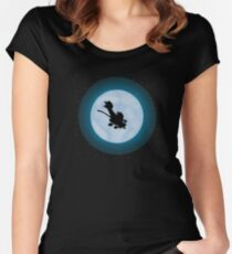 Calvin Hobbes Moon Women's Fitted Scoop T-Shirt
