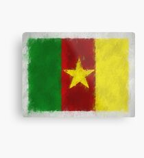 Cameroon Flag Reworked No. 66, Series 4 Metal Print