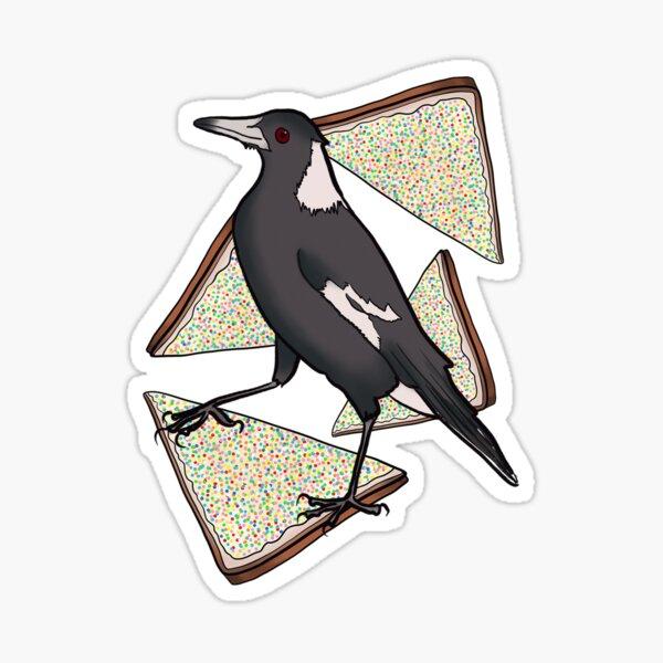 Lone Magpie and Fairy Bread Sticker
