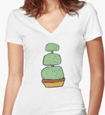 Topiary Women's Fitted V-Neck T-Shirt