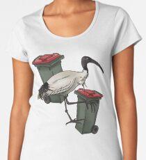 Lone Bin Chicken Premium Scoop T-Shirt