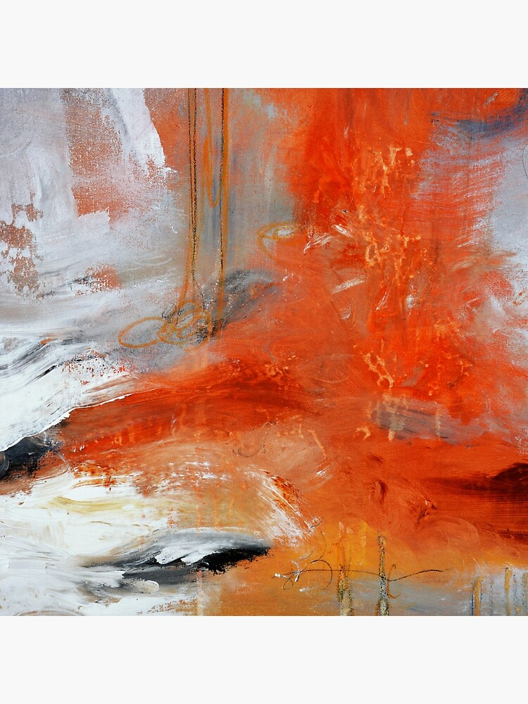 Red Orange Abstract Print  by AndradaArt