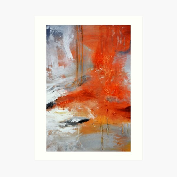 Red Orange Abstract Print  Art Print