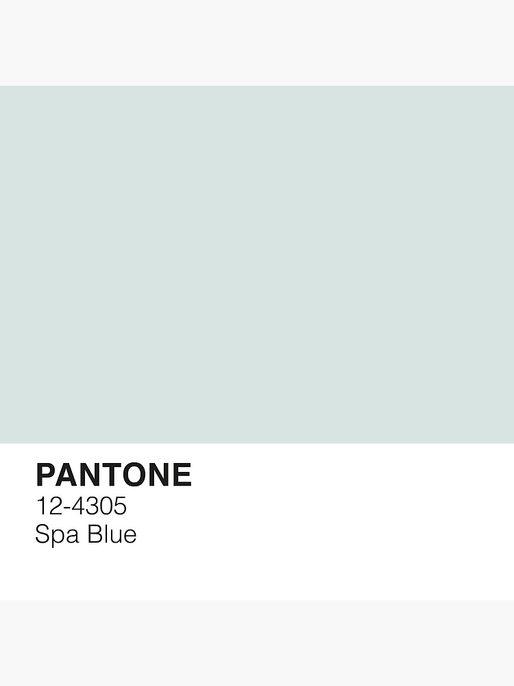 Spa Blue Pantone by PineappleInk