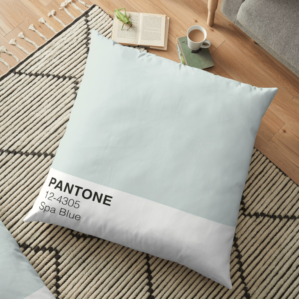 Spa Blue Pantone Floor Pillow