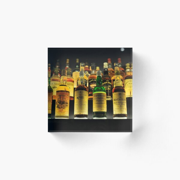 Collection of Whisky Bottles Acrylic Block