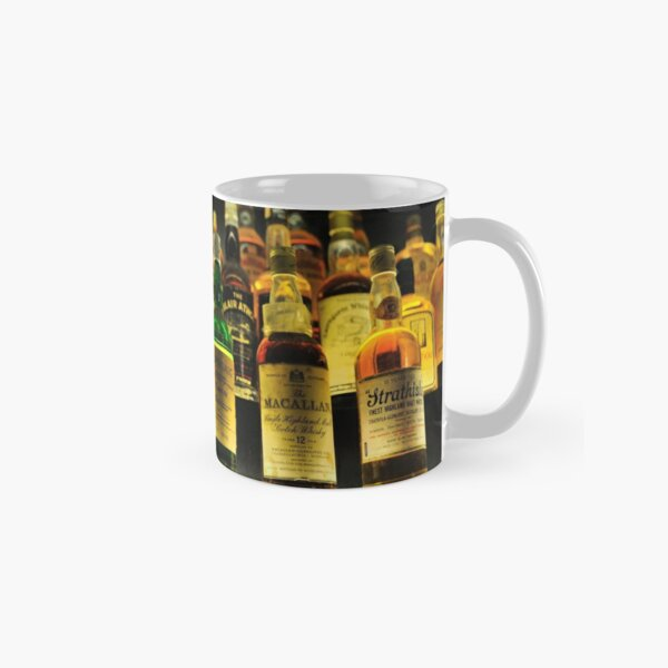 Collection of Whisky Bottles Classic Mug