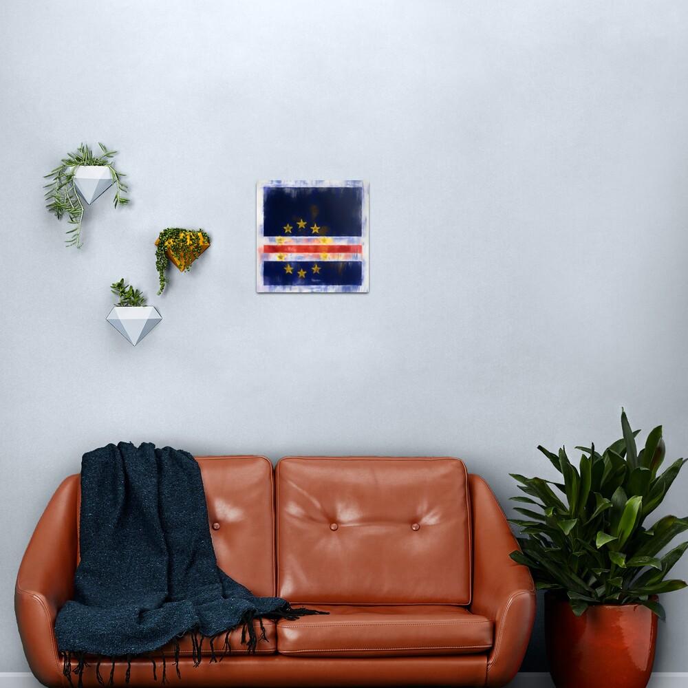 Cape Verde Flag Reworked No. 2, Series 1 Metal Print