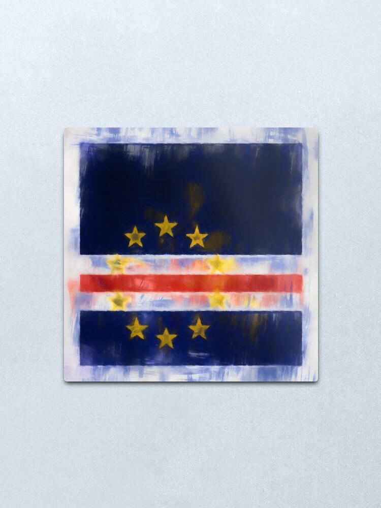 Alternate view of Cape Verde Flag Reworked No. 2, Series 1 Metal Print