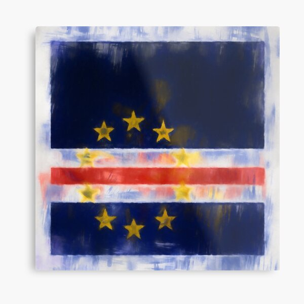 Cape Verde Flag Reworked No. 2, Series 1 Metal Print