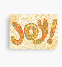 Illustration with joy word Canvas Print