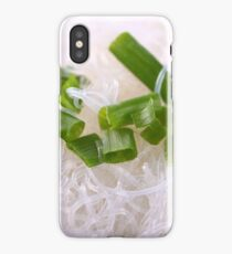 white bean noodles and green onion  iPhone Case/Skin