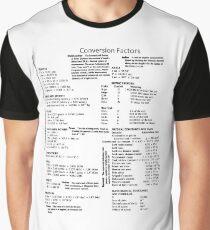 Physics: Conversion Factors - #Physics #Conversion #Factors #ConversionFactors #tera #giga #mega #kilo #hecto #deca #meter #kilogram #second #newton #joule #watt #Length #Mass #Time #Current #Charge Graphic T-Shirt