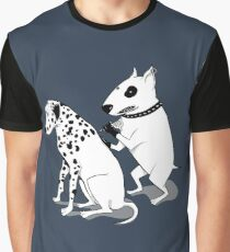 Bull Terrier and Dalmatian Graphic T-Shirt