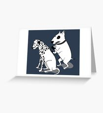 Bull Terrier and Dalmatian Greeting Card