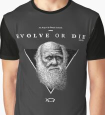 EVOLVE OR DIE Grafik T-Shirt