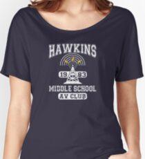 Stranger Things Tee - Hawkins AV Club Women's Relaxed Fit T-Shirt