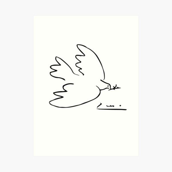 Picasso Peace Dove Art Print