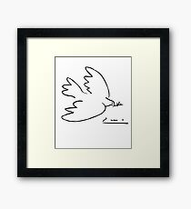 Picasso Peace Dove Framed Print