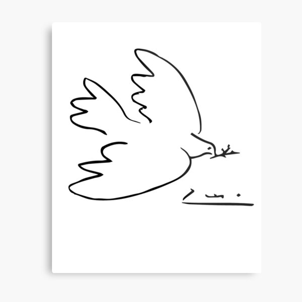 Picasso Peace Dove Metal Print