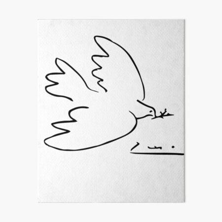 Picasso Peace Dove Art Board Print