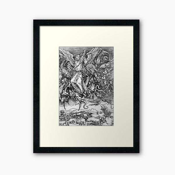 Albrecht Durer - Saint Michael Fighting the Dragon Framed Art Print