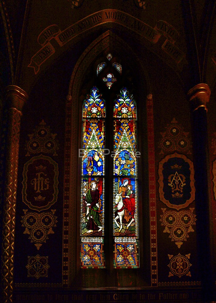 Window in St Francis' Catholic Church, Melbourne Australia by Bev Pascoe