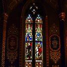 Window in St Francis' Catholic Church, Melbourne Australia by Bev Pascoe