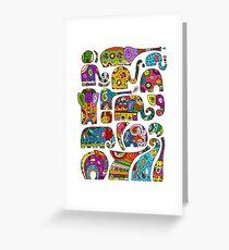 Ornate elephants Greeting Card