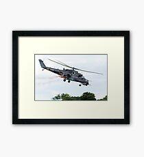 Mi 24 Hind Helicopter Gunship (V) Framed Print