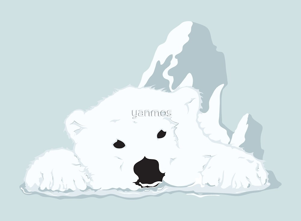 Melting Polar bear by yanmos