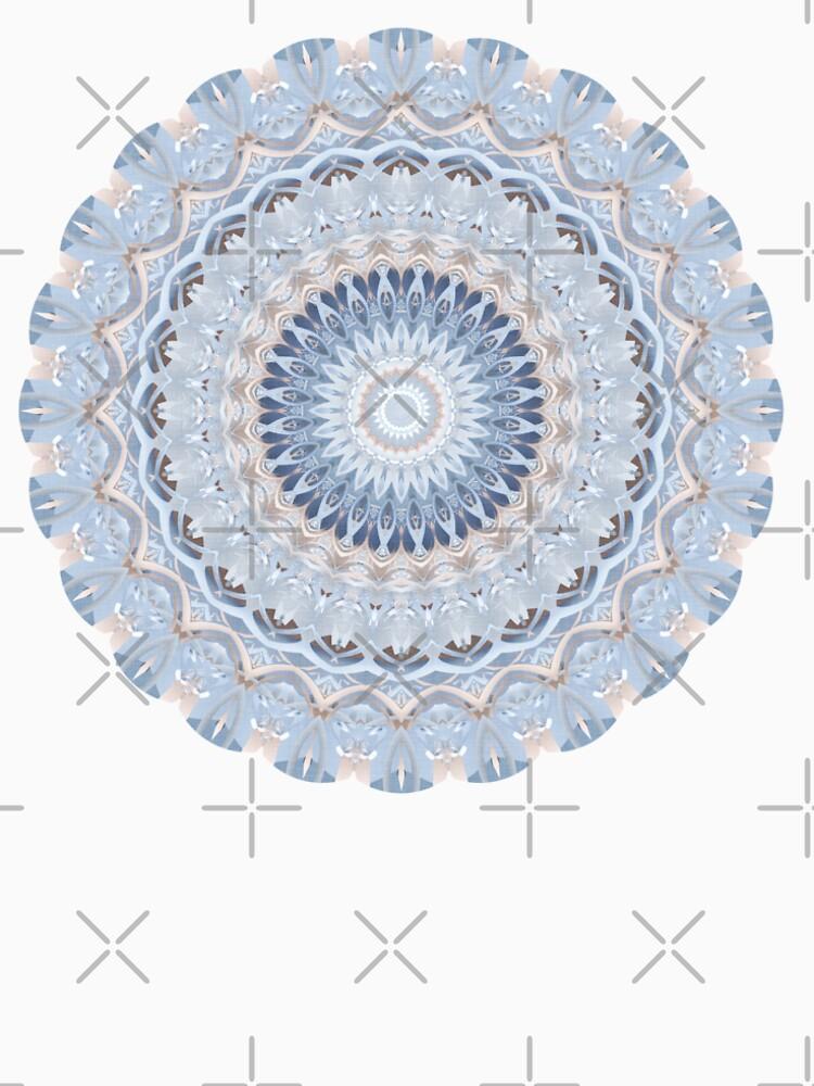 Serenity Mandala in Blue, White & Ivory by kellydietrich