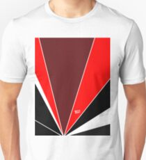 Red Art Deco Abstract #minimal #christmas #design #kirovair #decor #buyart T-Shirt