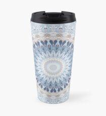 Serenity Mandala in Blue, White & Ivory Travel Mug