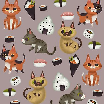 Sushi cats by elenapugger