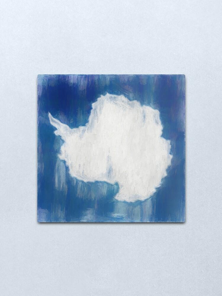 Alternate view of Antarctica Flag Reworked No. 1, Series 2 Metal Print