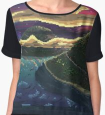 Pixel Sunset Women's Chiffon Top