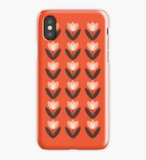 Tulip Pattern Phone Case in Coral Red iPhone Case/Skin
