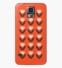 Tulip Pattern Phone Case in Coral Red Case/Skin for Samsung Galaxy