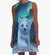 Eisbär A-Linien Kleid