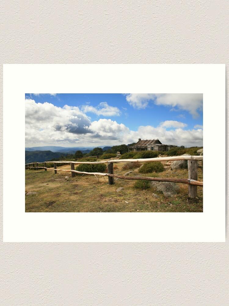 Alternate view of Autumn Afternoon at Craig's Hut, Mt Stirling, Australia Art Print