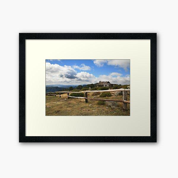 Autumn Afternoon at Craig's Hut, Mt Stirling, Australia Framed Art Print