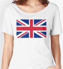 Union Jack, FULL COVER, British Flag, UK, United Kingdom, Pure & simple, 1:2 Women's Relaxed Fit T-Shirt