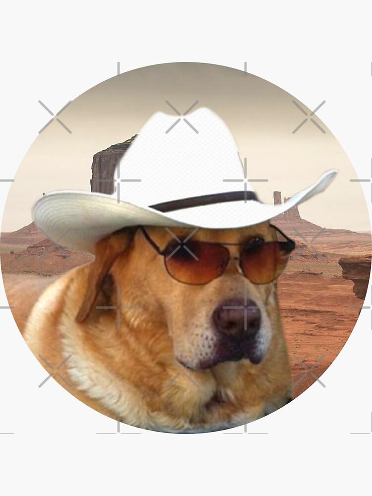 Doggo Stickers: Cowboy by Elisecv