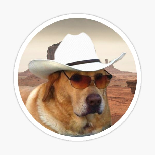 Doggo Stickers: Cowboy Sticker