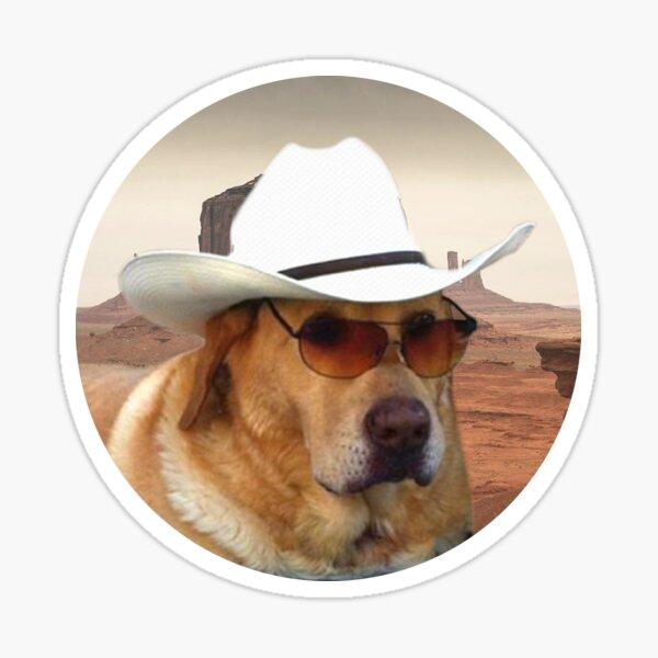 Etiquetas engomadas de Doggo: vaquero Pegatina