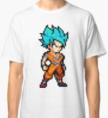 Goku Pixeled Super Sayan God  Classic T-Shirt