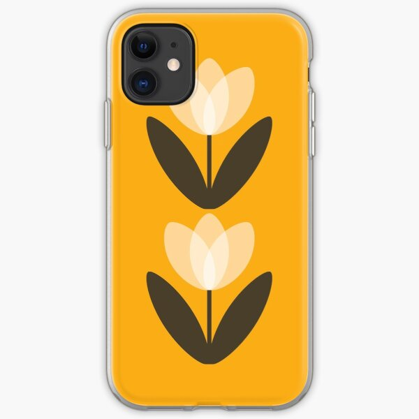 Tulip Phone Case in Mustard Yellow iPhone Soft Case