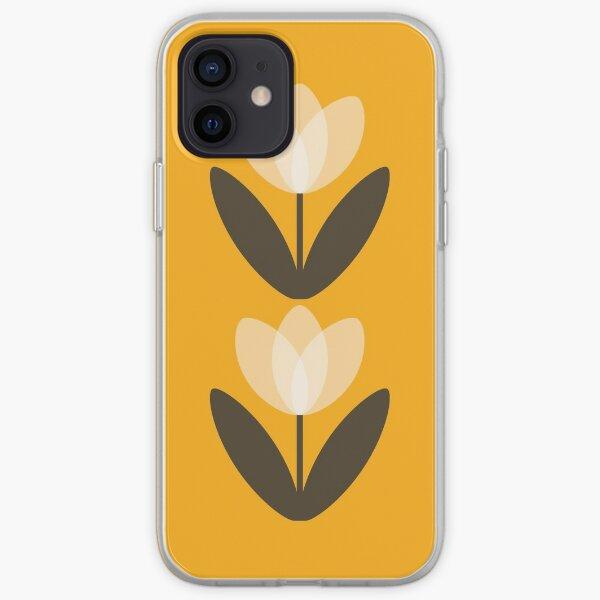 Retro Tulip in Mustard Yellow iPhone Soft Case
