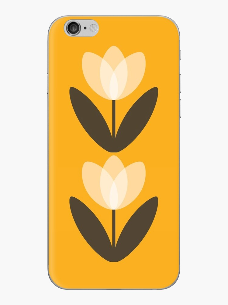 Tulip Phone Case in Mustard Yellow by SuzieLondon